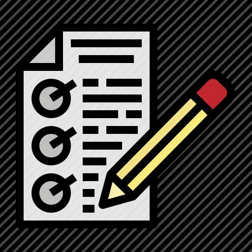 document, grade, homework, score, test icon