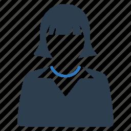 avatar, businesswoman, education, school, student, teacher, woman icon