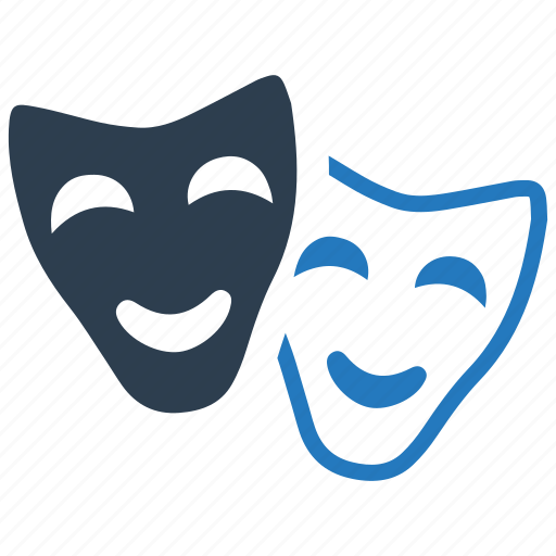 comedy, drama, entertainment, happy, mask, sad, theater icon