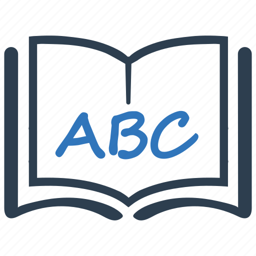 abc, alphabet, education, reading icon