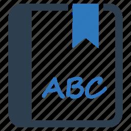 abc, alphabet, education, reading icon
