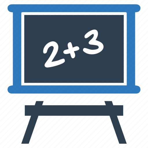 blackboard, calculation, math, studing icon