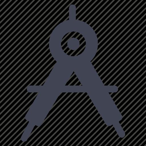 compass, design, education, equipment, graphic, tool, tools icon