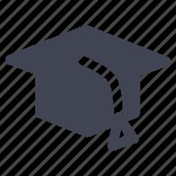 cap, education, graduation, hat, school, student icon
