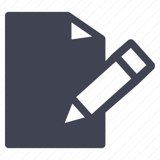 document, documents, education, file, paper, pencil, writing icon