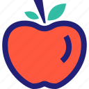 apple, fruit, juicy, staff, sweet, teacher icon