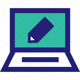 compose, edit, elearning, homework, online icon