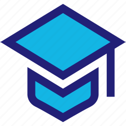 cap, college, graduate, graduation, high, school icon