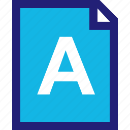 a, assignment, good, grade, homework, letter icon