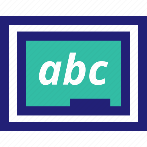 abc, board, chalk, learning, wirte icon