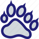 animal, cat, mascot, paw, print, school, tiger icon