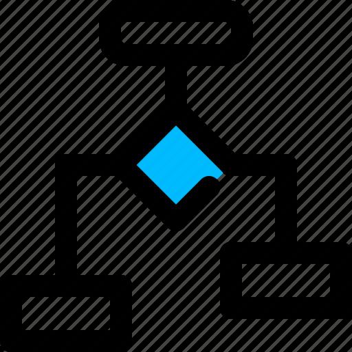 algorithm, diagram, flowchart, logic icon
