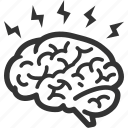 brain, brainstorming, education icon