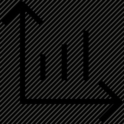 analytics, business analysis, chart, graph, line chart icon