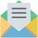 email, envelope, inbox, letter, mail, open envelope icon