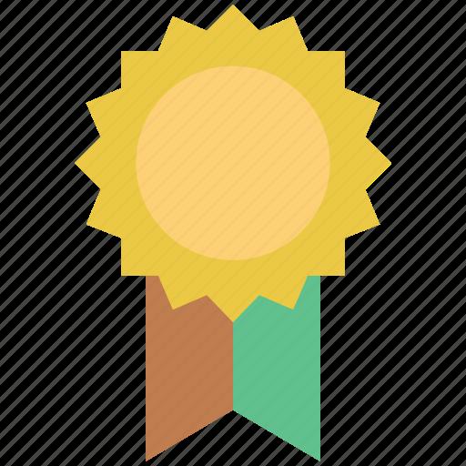 award, badge, champion, reward, ribbon badge, winner icon
