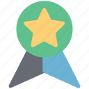 award badge, champion, prize, reward, ribbon badge, star badge, winner icon