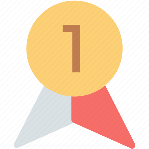 award badge, first place, first position, positon badge, reward, ribbon badge, winner icon