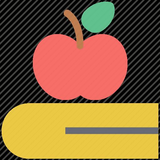 apple, book, diet chart, diet plan, healthy diet, healthy eating icon