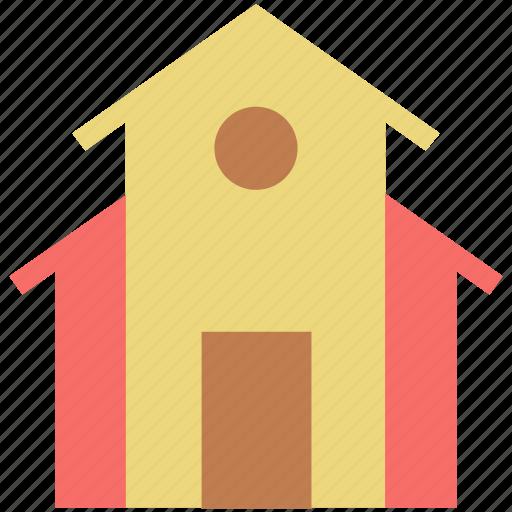 building, home, house, hut, real estate, school building, villa icon