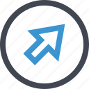 arrow, click, online, seo, web icon