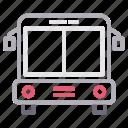 automobile, schoolbus, transport, travel, vehicle icon