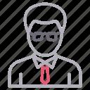 avatar, education, male, man, teacher icon