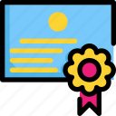 certificate, education, knowledge, learning, school, study icon