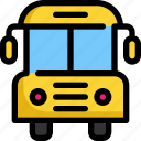 book, bus, education, learning, school, study, transport icon