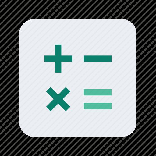 calculate, calculator, college, educate, education, math, school icon