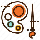 art, brush, color, design, draw, edit, paint icon
