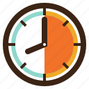 alarm, and, clock, time, tools, utensils, watch icon