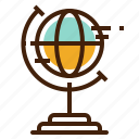earth, education, geography, globe, grid, planet icon
