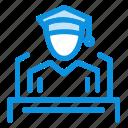 cap, education, graduation, speech icon