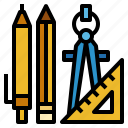 educative, pen, stationery, supplies, tool icon