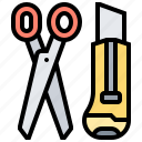 cutter, diy, scissors, stationery, tool icon