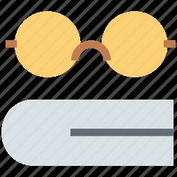 book, eyewear, glasses, learning, reading, shades, specs, studying icon