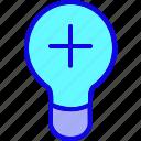 add, bulb, creative, education, idea, innovation, light