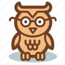 education, owl, school, study icon