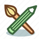 brush, design, painting, pencil, tool, tools icon