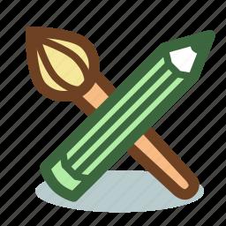 brush, design, painting, pencil, tool, tools icon