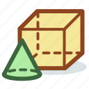 educational, geometry, math, mathematics icon