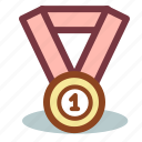 award, first, medal, prize, sport, winner icon