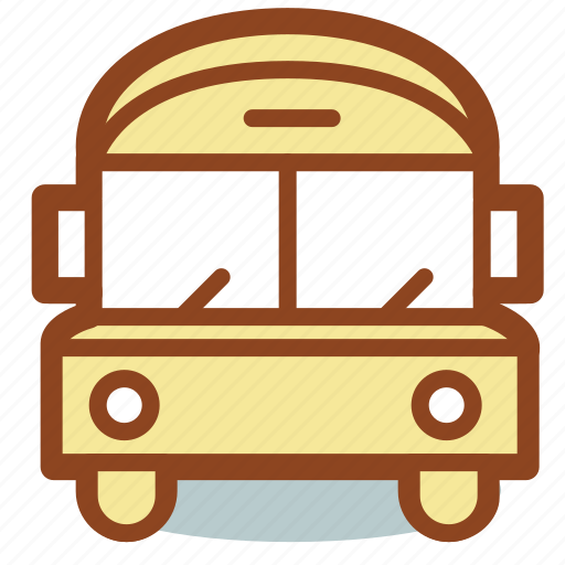 bus, education, school, transport icon