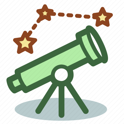 astrology, astronomy, space, stars, telescope icon