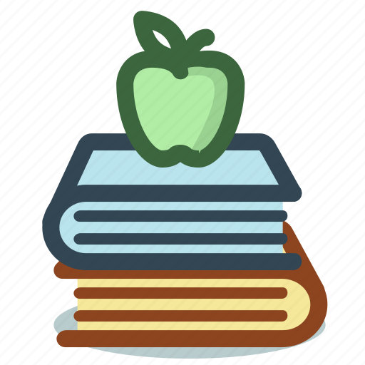 apple, books, education, library, reading icon