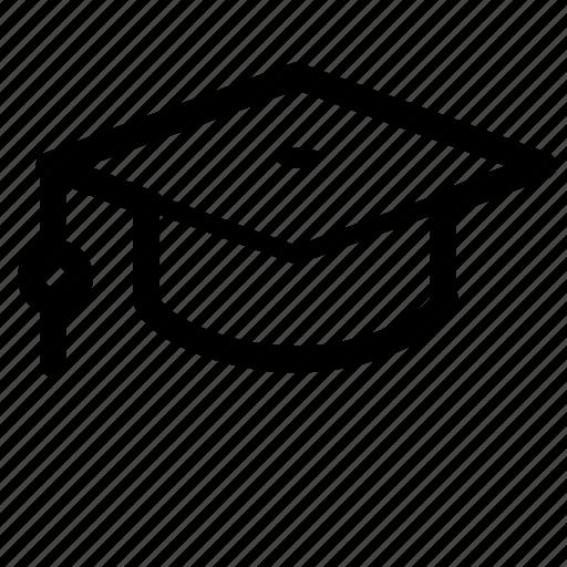 academic, college, education, graduate, graduation, hat, school icon