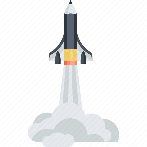 adventure, discover, education, explore, flat design, invention, space shuttle icon