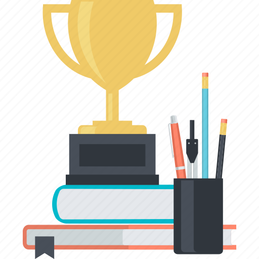 awards, education, flat design, knowledge, learning, school icon