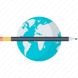 distance, e-learning, education, flat design, internet, online icon